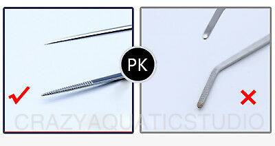 High-Quality Stainless Steel Live Plant Kit Tank Curve/Straight Tweezers Clamper