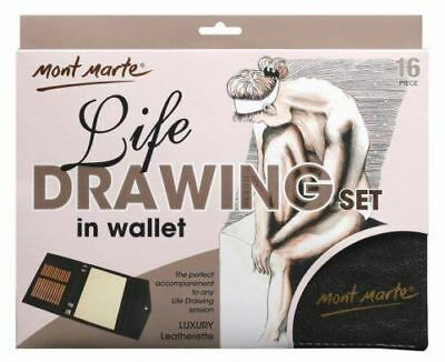 Mont Marte Life Drawing Set in Wallet 16 pce
