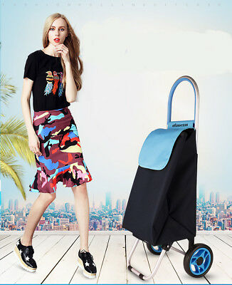 D135 Rugged Aluminium Luggage Trolley Hand Truck Folding Foldable Shopping Cart