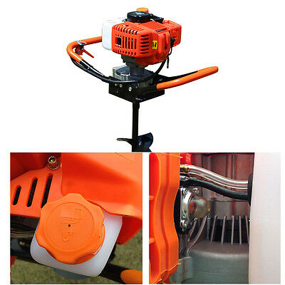 52CC 2Stroke Petrol Earth Auger Post Hole Borer Ground Drill 2.4ps Air-Cooled UK