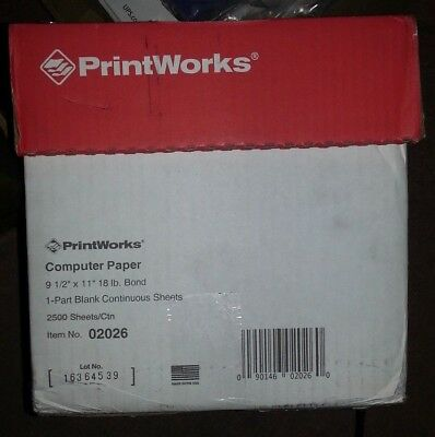 "PrintWorks Professional Office Report Printer Paper - 9 1/2"" x 11 - 2,500 Sheets"