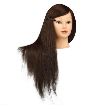 Salon 90% Real Human Hair Hairdressing Training Head Mannequin Study Cut Holder