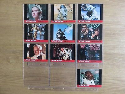 Star Wars Topps 1995 set of 10 trading cards