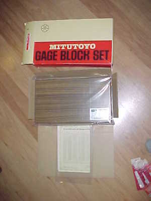 NOS Still Sealed Mitutoyo 516-942-2 103 Pc. Gage Block Set Grade 2 Set BM1-103-2