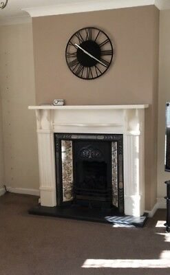 Antique Style Cast Iron Victorian Tiled Insert Fireplace