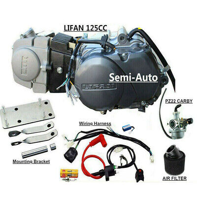 4 UP 125CC LIFAN Engine motor 4 Honda CT110 CT90 Postie Bikes + Mounting  Bracke