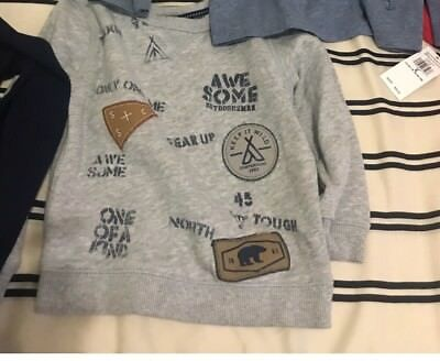 Carters Boys Sweater Size 4T Grey