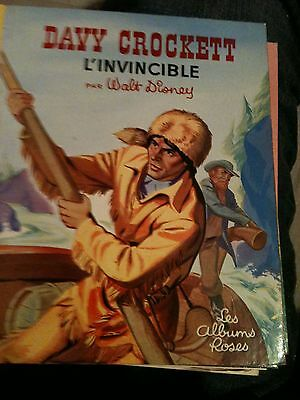 Davy Crockett L'invincible Walt Disney 1959  les albums roses