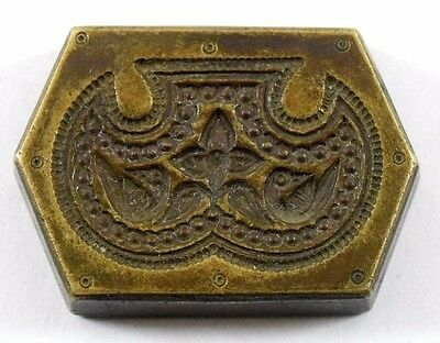 Vintage Beautiful Designs Bronze Jewellery Dye/mold/Stamp. G46-178