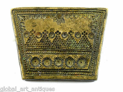 Vintage Unique Designs Bronze Beautiful Jewelery Making Dye/Seal/Stamp. G46-165