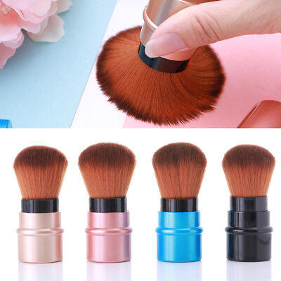 Makeup Brush Powder Foundation Brush Blusher Retractable Rose Gold Cosmetic Tool