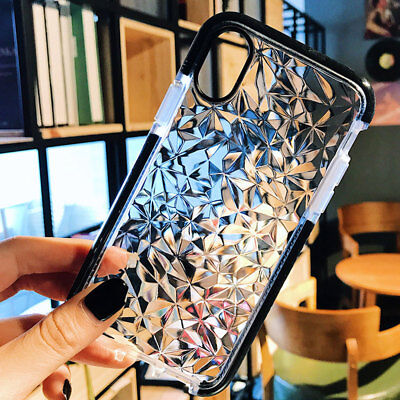 Luxury Crystal Shockproof Silicone Case for iPhone X/8 7 6 Plus Thin Phone Cover