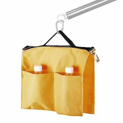 Yellow Nylon Studio Softbox Water Bag w/ 4 Outer Pouches for Panel Boom Arm Bar