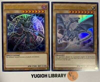 Yugioh - Blue-Eyes White Dragon & Dark Magician - ULTRA RARE - 2 CARD SET - MINT