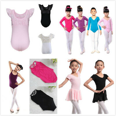 Kid Girl Long Sleeve Ballet Dance Dress Toddler Fitness Gym Wear Leotard Costume