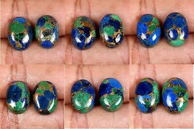 14x10 mm gemstone  AZURITE Copper Mohave  Oval 1 Pair choose from variation