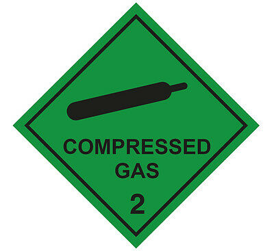 1 x Compressed Gas Magnetic Vehicle Sticker-Ambulance, Paramedic First Responder