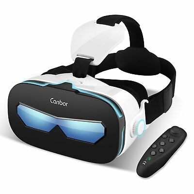 3b0d7634ddc9 Virtual Reality VR Headset 3D Glasses With Remote for Android IOS iPhone  Samsung
