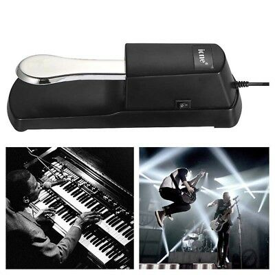 Sustain Pedal Chrome Plated Damper Pedal Universal Keyboard for Electronic Piano