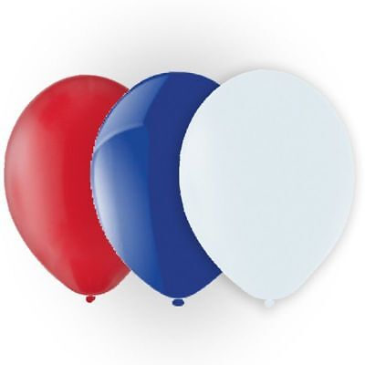 "25 pcs 12"" Latex Balloons Red White Blue Colour birthday Party celebrations"