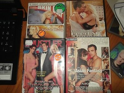 Lot of 114 Adult Movies - Hustler Playgirl and many other brands