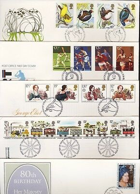 GB Great Britain 1980 FDC Five Different First Day Covers (a)