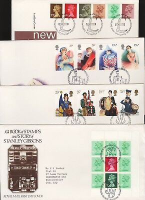 GB Great Britain 1982 FDC Four Different First Day Covers (b)