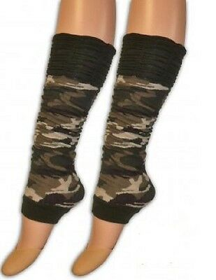 Camouflage Army Rouge Top Leg Warmers.