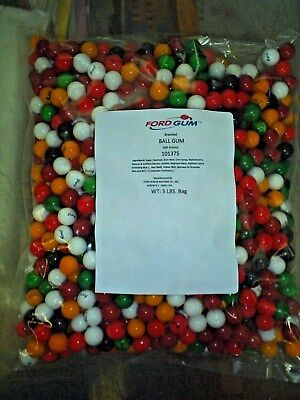 NEW bag REAL FORD BRANDED GUMBALLS 5 lbs BUY NOW with 10 % LICORICE made in USA