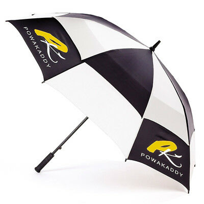 PowaKaddy Golf Clear-View Umbrella - Black/White - 2018