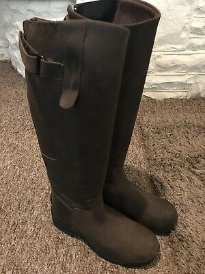 Toggi Calgary Tall Unisex Boots Long Riding - Brown Size 40 / 6.5 UK
