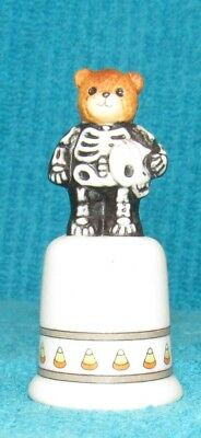 Vintage Lucy Rigg (Lucy & Me) Halloween Skeleton Bear Thimble