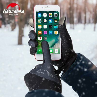 Fleece Outdoor Sports Gloves Windproof Touch Screen Full Finger Gloves YB