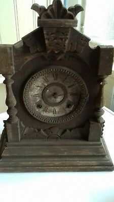 Antique ANSONIA Mantle clock Co NEW YORK 1882 please look rare find