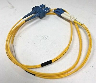Fiber Optic Cable LC-SC SM Dplx, 1meter FC-LCSC-SD-1M