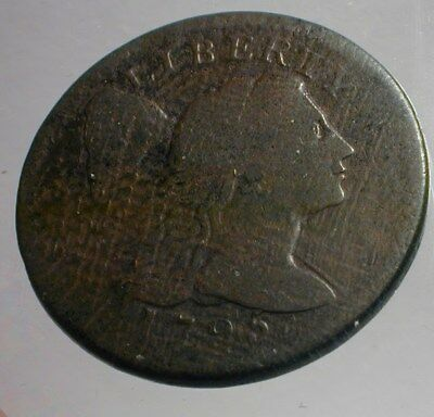 1795 Liberty Cap Large Cent Nice circulated condition   (UASZPD)