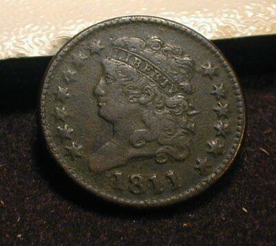 1811 Classic Head Half Cent VF Details  RARE DATE !!!                   (STMZPD)