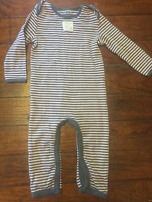 Burt's Bees Baby Baby 6-9 Months Brown & Pink Striped Sleeper