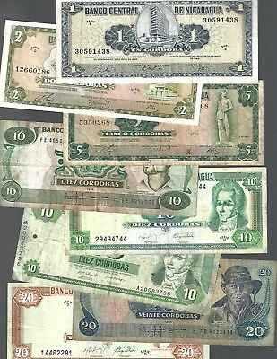 8 Banknotes from Nicaragua