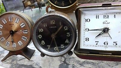 Collection Of Vintage Clocks Spares Or Repairs Ebosa  Swiza Starlet