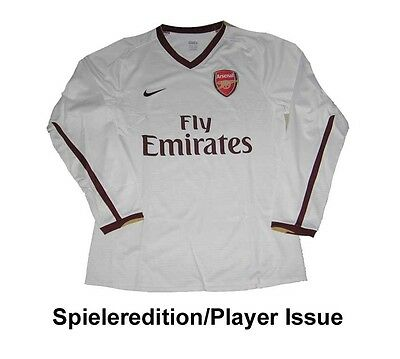 Arsenal London Trikot 2007/09 Nike Player Issue LS EPL XL