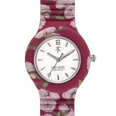 Orologio HIP HOP I LOVE JAPAN HWU0863 32mm Silicone Bordeaux Fiori