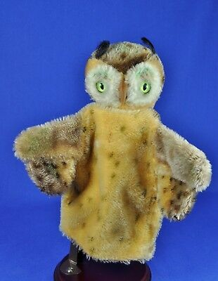 Steiff: Wittie Hand Uhu / Puppet Eagle Owl, 0317,00, Schild / name tag,  1953-68