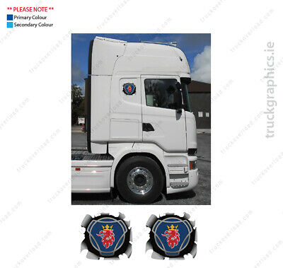 Scania Griffin – Bullet Hole (Small) Badge Lorry Emblem Sticker