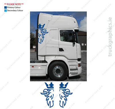 Scania side of cab Griffin 5 Badge Lorry Emblem Sticker