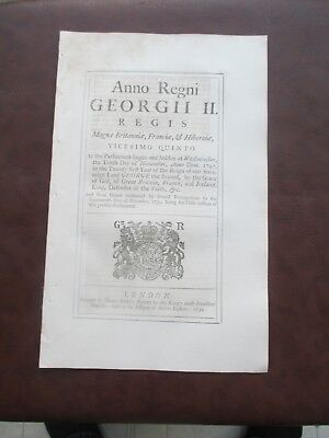 1752 Insurances On Foreign Ships To From The East Indies Act Of Parliament  Law