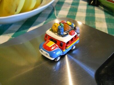 """Terra Cotta """"Chiva"""" Bus, Handmade Toy from Colombia"""