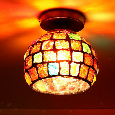 Pendant Ceiling Lampshade Vintage Glass Hanging Lamp Shade E27