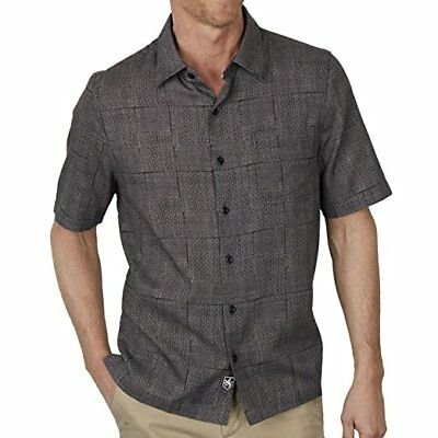 Nat Nast Men's Traditional Fit Print Button Down SS Shirt Black Choose Size NWT