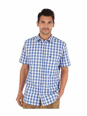 Orbis Traditional Shirt Check short Sleeve Sonnenblick Blue Blue